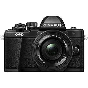 Olympus OM-D E-M10 Mark II Mirrorless Digital Camera with 14-42mm EZ Lens (Black)