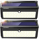 Solar Lights Outdoor, ZOOKKI 100 Led Solar Motion Sensor Light Waterproof Wireless Security Night Light for Outdoor Wall,Back Yard,Fence,Garage,Garden,Driveway 2 Pack