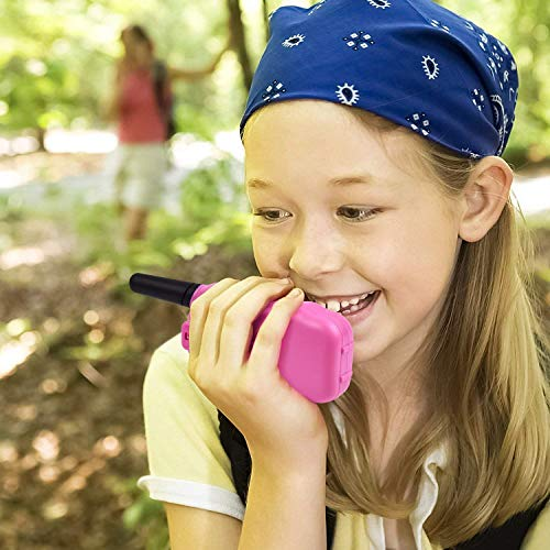 Funkprofi Walkie Talkies for Kids 22 Channels Long Range Rechargeable Walkie Talkies with Battery and Charger, Gift for Boys and Girls, 1 Pair (Pink) by Funkprofi (Image #7)