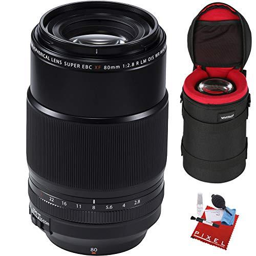 FUJIFILM XF 80mm f/2.8 R LM OIS WR Macro Lens with Heavy Duty Lens Case