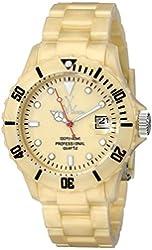 ToyWatch Women's FLP02GD Quartz Yellow Dial Plastic Watch