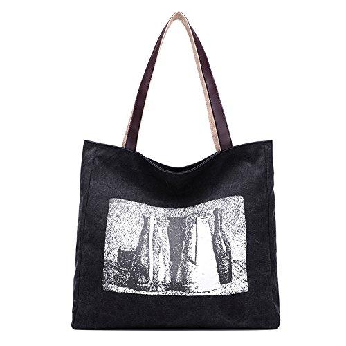 Meoaeo Canvas Tasche Neue Leinwand Frische Leinwand black Kpbet