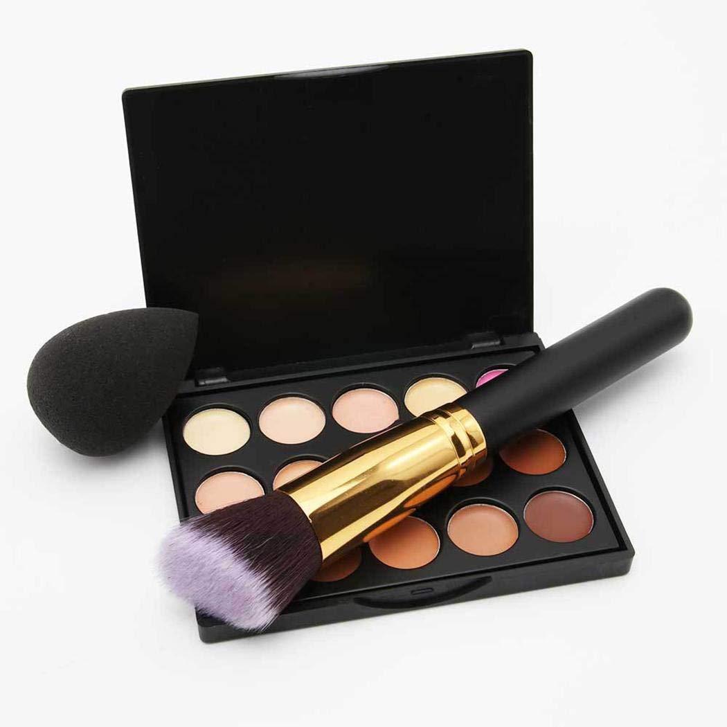 Tiowea 15 Colors Concealer Palette Facial Cream Makeup Brush Drop Puff Set Makeup Sets