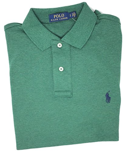 Polo Ralph Lauren Men Medium Fit Interlock Polo Shirt (L, Green - Green Ralph Lauren Polo