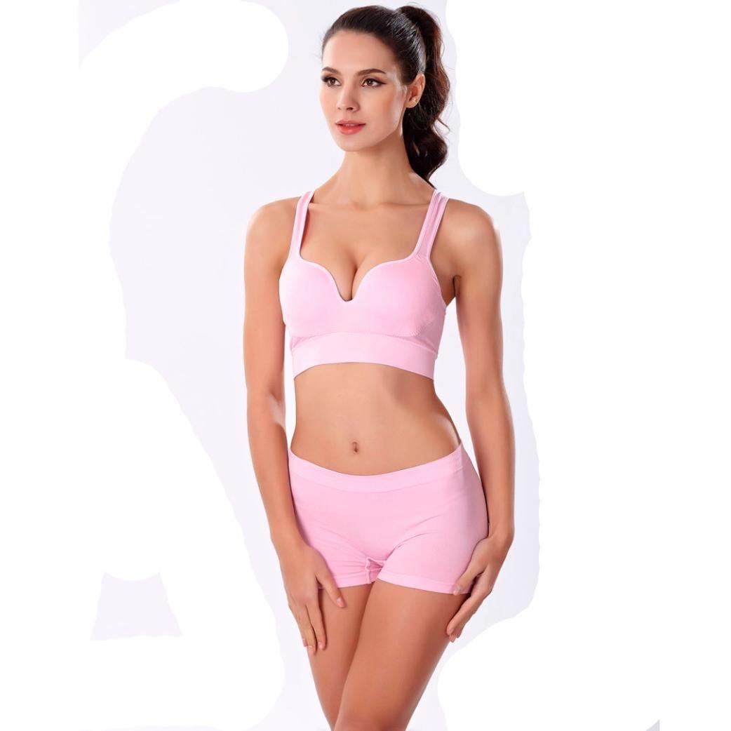 PHOTNO Sports pink Bra Women bra push up Wire Free Padded Bra