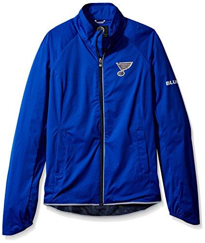 Louis Womens Jacket (NHL St. Louis Blues Women's Batter Light Weight Full Zip Jacket, XX-Large, Royal)