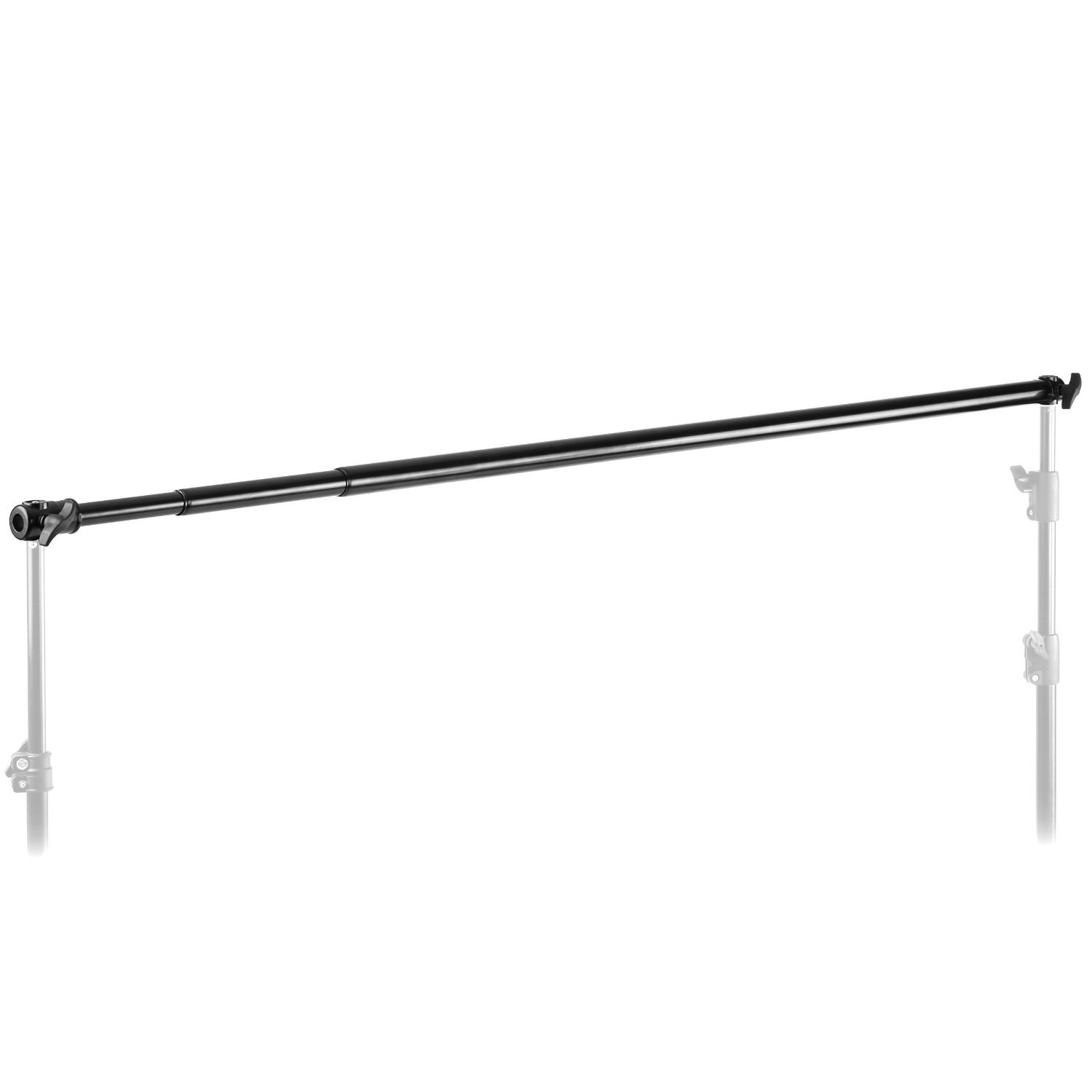 Neewer Pro 10 Feet/3M Aluminum Alloy 3 Section Telescopic Background Support Cross Arm Crossbar(Black) by Neewer