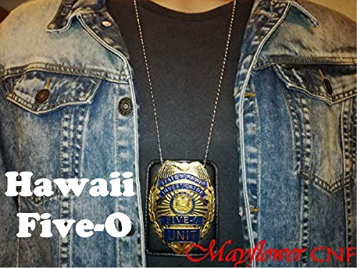Mayflower CNF Collection - State of Hawaii Five-O Unit Investigator Badge Replica - Jack Lord, Movie /TV Series Classical Prop