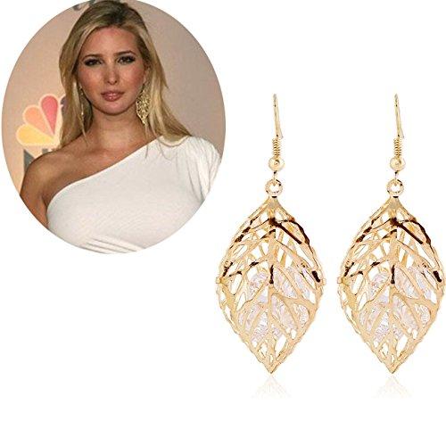 ivanka-trump-imitation-golden-hollow-leaves-earrings
