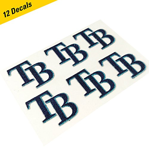 Tampa Bay Rays MLB Glitter Cheek Decals, Perfect for Game Day and Tailgate (12 Decals)
