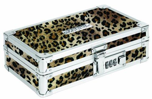 Vaultz Locking Pencil Box, 8.25 x 5.5 x 2.5 Inches, Cheetah (VZ00191) ()