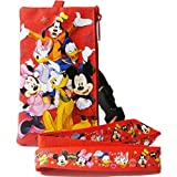 Disney Mickey Mouse & Friends Long Red Lanyard w/ Zippered Pouch by Disney