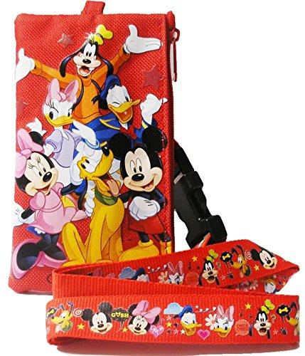Disney Mickey Friends Lanyard Zippered