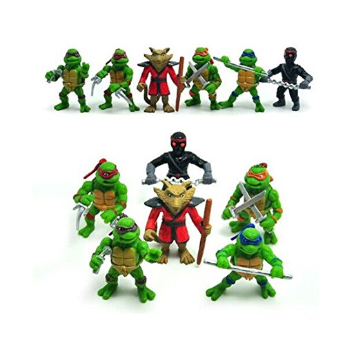6Pcs Teenage Mutant Ninja Turtles TMNT Action Figures Collection Toys Set (April From Tmnt Costumes)
