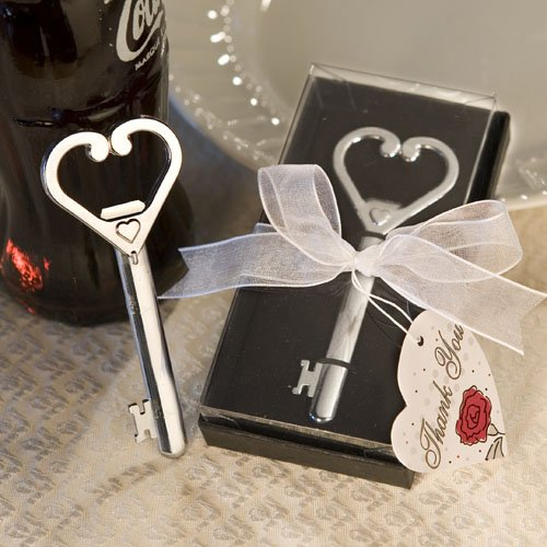 Accented Tall Fashion - Fashion Craft 4849 Heart Accented Key Bottle Opener Favors One Size Gray