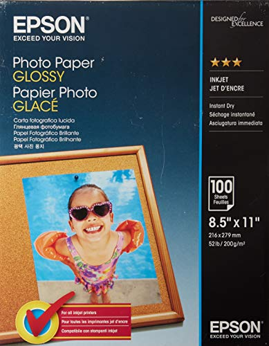 Epson Glossy Photo Paper for Reprints and Everyday Photos PAPER,INKJET,PHOTO,100/SH 15130 (Pack of3)