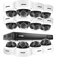 ANNKE 16-Channel 2.0MP PoE NVR Security System with 2TB Hard Drive and (12) 1080P 1920TVL Weatherproof Network IP Cameras