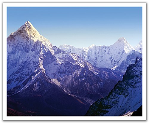 JP London POS2356 uStrip Peel and Stick Removable Wall Decal Sticker Mural Mt Everest Mountain Peak Summit, 24-Inch by 19.75-Inch (Second Highest Mountain Peak In The World)