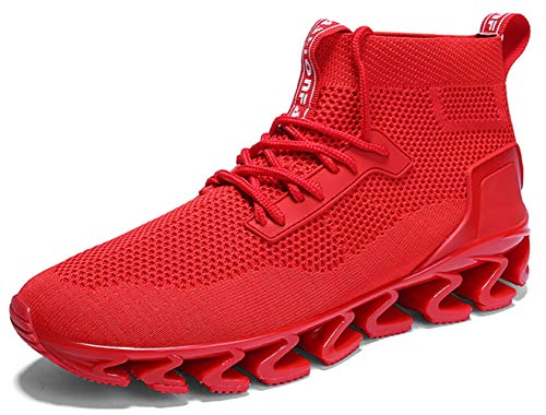 SKDOIUL Running Blades Men 7 red Sneakers for Men Outdoor Sports Running Shoes Springblade Fashion Sneakers Youth Big Boys Walking Shoes Trail Shoes Size 8 (8827-Red-41)