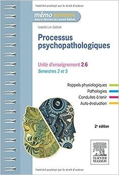 Processus Psychopathologiques: Unite D'Enseignement 2.6: Semestres 2 Et 5 (Memo Infirmier)