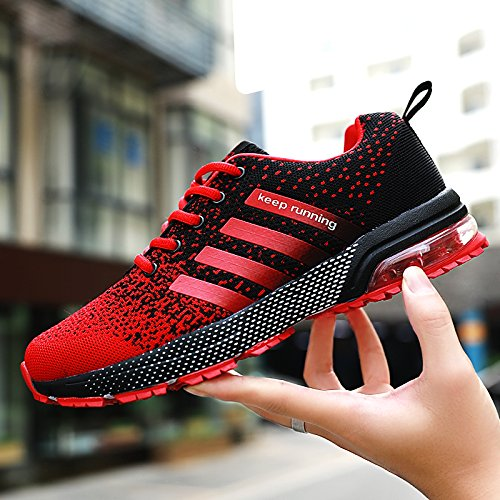 Mens For Red Xidiso Tennis Athletic Men Lightweight Air Sport Sneakers Shoe Shoes black Running Cushion Womens UHwH7qd