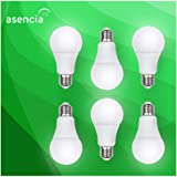 Asencia AN-03408 40 Watt Equivalent, Dimmable, A19 Standard LED Light Bulb, 6-Pack, Soft White (2700K)