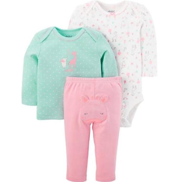 b0f137c8f06ff Amazon.com  Carter s Child Of Mine Newborn Baby Girl Long Sleeve ...