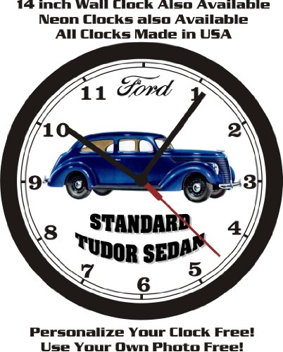 1938 FORD STANDARD TUDOR SEDAN WALL CLOCK-FREE USA, used for sale  Delivered anywhere in USA