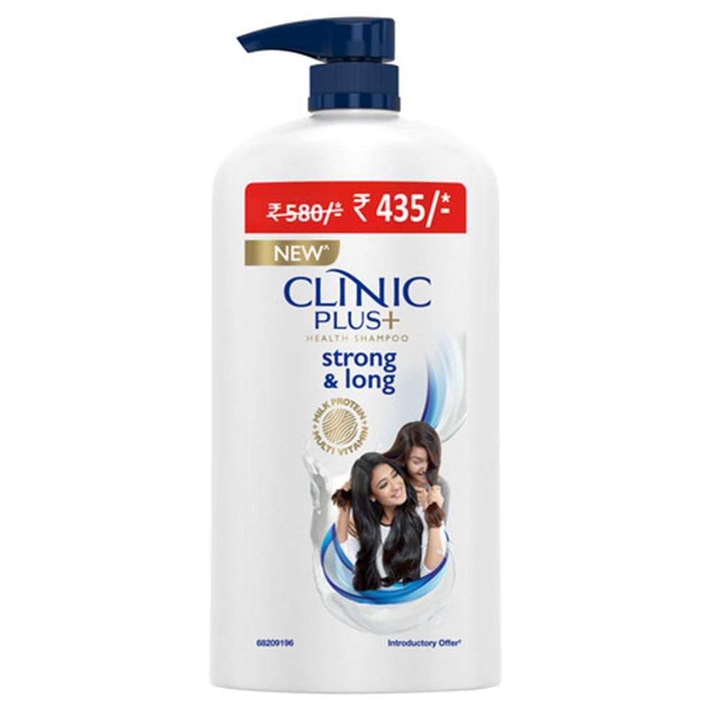 Clinic Plus Strong & Long Health Shampoo - With Milk Protein And Multivitamin For Healthy & Long Hair, 1 Ltr