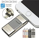 64 GB iFlash Device Memory, Data Storage - Dual USB-Flash Drive For Apple Iphone 7, 7plus, 6s, 6s plus, 6, 6 plus , Ipad air 2 , iOS-PC-Android (Silver)