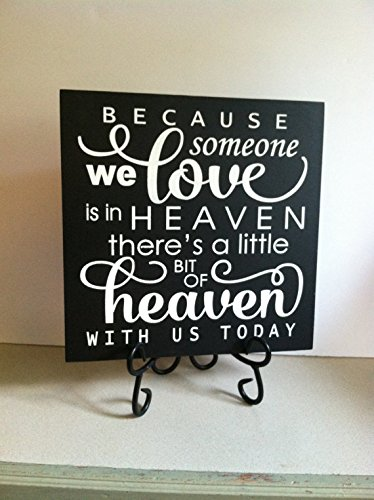 Amazon Uniquepig Because Someone We Love In Heaven Funny Quotes Extraordinary Love Plaques Quotes