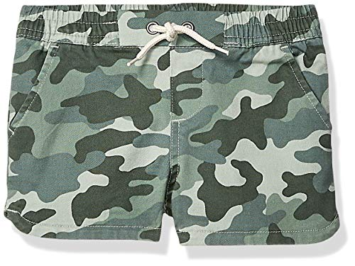 Spotted Zebra Girls' Pull-On Shorts, Camo Medium (8)