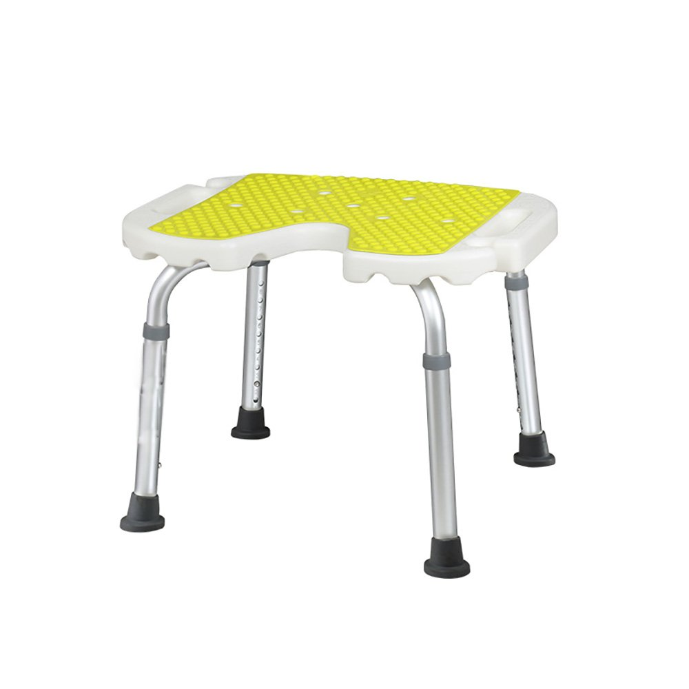Bath Chair Old Man Shower Chair Bathroom Stool Disabled Person Shower Chair Pregnant Women Anti-slip Bath Stool With Backrest U-shaped Bathroom Stool Adjustable Height Stay Flowering (Size : 1#)