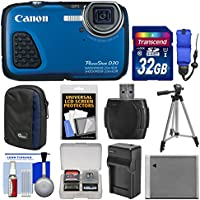 Canon PowerShot D30 Shock & Waterproof GPS Digital Camera with 32GB Card + Case + Battery/Charger + Tripod + Float Strap + Accessory Kit Explained Review Image