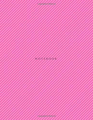 Read Online Notebook: Unlined Plain Notebook  Large (8.5 x 11 inches) Letter Size  120 pages  Pink Soft Cover (Basic Plain Notebooks) (Volume 15) ebook