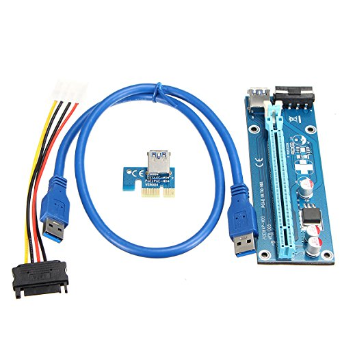 ELEGIANT PCI-E USB 3.0 Cable Express 1X to 16X Extension Cab