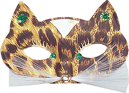 Ladies Carnival Fancy Dress Party Accessory Masquerade Leopard Domino Eye Mask ()