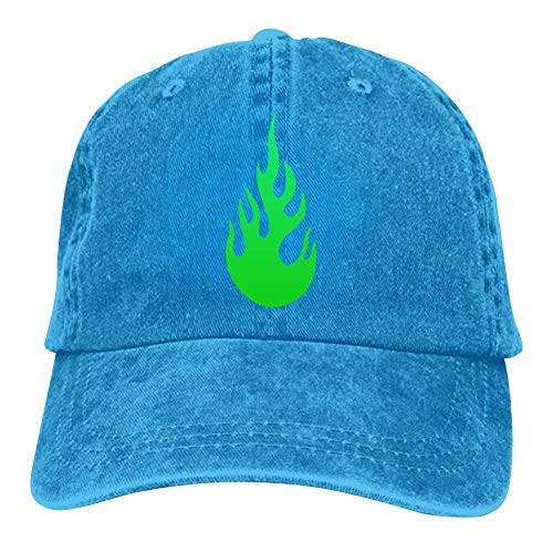 Wuzhongshengyou Green Fire Unisex Baseball Caps Adjustable Cowboys Hat