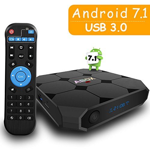 GooBang Doo ABOX A1 Max Android 7.1 TV Box with On/Off Switch Button, Nixie tube, USB 3.0 and Unique RK3328 Chip Support True 4K @ 60Hz Playing