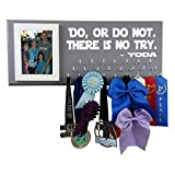 Running On The Wall Disney Medal Display - DO, OR DO NOT. There is NO Try - YODA - Start Wars - Run Disney Medal Hanger - Medal Holder