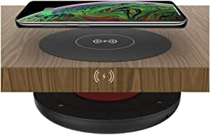 """Long Ranger Wireless Charger, Invisible Charging Station Mounts Under Counter, Desk, Nightstand - Ultra Thin Pad Charges Phone Thru Surfaces Up to 1.5"""" Thick - Qi Compatible with iPhone, Samsung, Etc"""