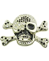 "Men's Women's Adult Unisex Rhinestone ""Skull"" Belt Buckle"