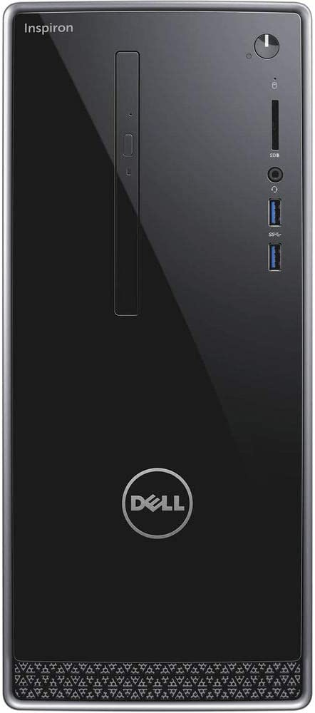 Dell Inspiron 3668 Tower Business PC, Intel Quad Core i5-7400 up to 3.5GHz, 8G DDR4, 256G SSD, VGA, HDMI, Windows 10 Pro 64 Bit-Multi-Language Supports English/Spanish/French(Renewed)