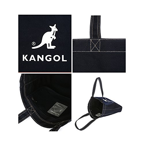 KANGOL Cotton Tote Bag for School Work Travel and Shopping Fashionable Shoulder Bag, Eco Friendly Bag Juno 0011 (Dark Navy) by Kangol (Image #3)