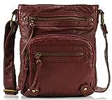 Scarleton Washed Multi Pocket Crossbody Bag H169320 - Burgundy