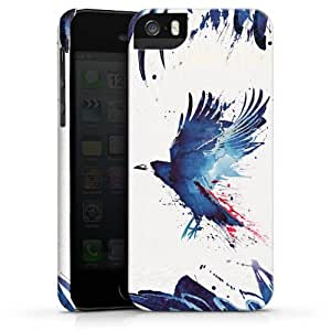 Carcasa Design Funda para Apple iPhone 5 S PremiumCase white - Bloody crow
