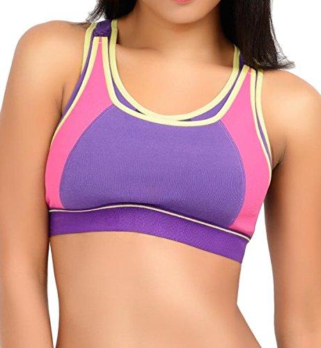 UPC 095615204707, LLLI High Impact Softcup Sports Nursing Bra #4102 (Large, Purple Color Block)