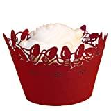 Paper Orchid Holiday Lights Cupcake Wrapper Red, Set of 12
