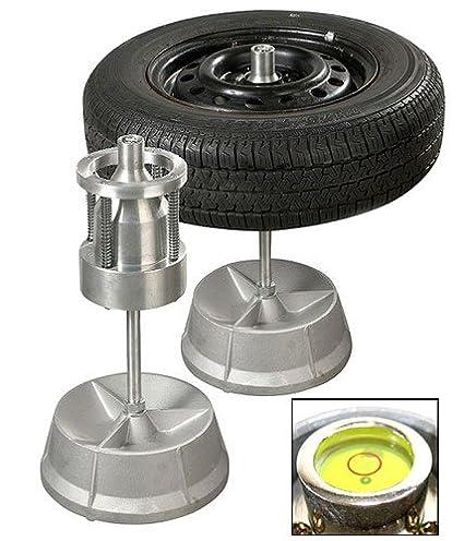 Amazon Com Portable Hubs Wheel Balancer W Bubble Level Heavy Duty