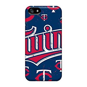 Cases-best-covers Iphone 5/5s Scratch Resistant Hard Phone Cover Customized Colorful Minnesota Twins Pattern [eur263yZid]